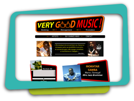 Logo and Web Design for Very Good Music, World Music booker located in Paris, France